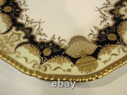 Antique Rare Find England Coalport A. D 1790 Cobalt Blue & Gold Dinner Plate 10