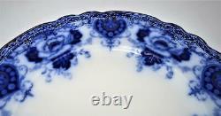 Antique Royal Staffordshire Crown Backstamp, Flow Blue, Dinner Plate, 10 1/4