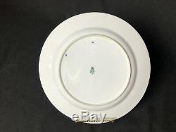 Antique Set of 9 Royal Worcester Lily (ca. 1878) 10&1/8 Dinner Plates Blue