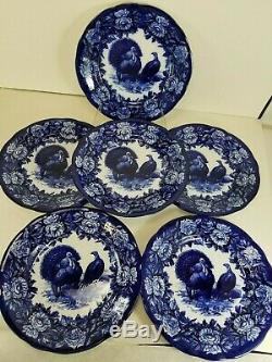 Antique Villeroy Boch Dresden Flow Blue Turkey Platter Dinner Plates YOUR CHOICE