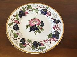 Antique Wedgwood VINE Hand-Painted Dinner Plates circa 1897 Set of 10