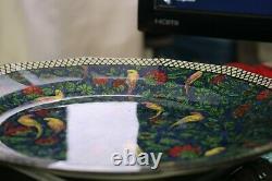 Art Deco Royal Douton Blue Chintz Persian Parrots D4031 Large Dinner Plate 10