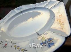 Art Deco Shelley Blue Iris Queen Anne Set of Large Plates 23.5cm 11561 723404 9