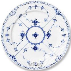 BLUE FLUTED HALF LACE Royal Copenhagen Dinner Plate 10 NEW NEVER USED Denmark
