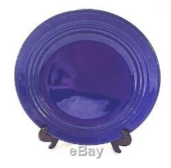 Bauer Pottery Ring Ware Dinner Plate- Cobalt Blue Los Angeles California 9.5
