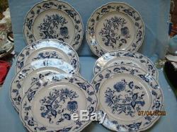 Blue Danube Blue Onion 10.25 Dinner Plates Lot of 7