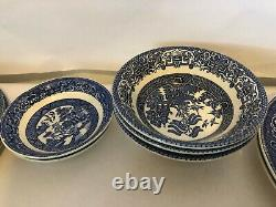 Blue Willow Churchill England Dinner Plate, Cup and Saucer SET NEW