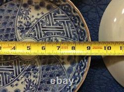 Blue and White Japanese dinner plates set of 10