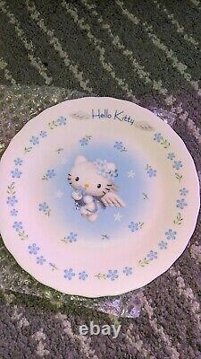 Brand New in Box Vintage Sanrio Hello Kitty Blue Angel Dinner Plate