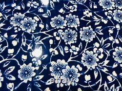 CHURCHILL ENGLAND Set of 6 Calico Blue & White Chintz Dinner Plates