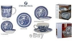 Churchill Blue Willow Dream Mug Plate Bowl Mug Teacup Saucer Bowl Dinnerware