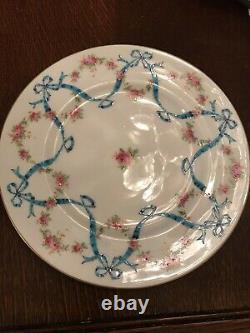 Coalport Blue Bow and Garland Dinner Plates