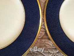 Coalport Bone China Athlone-Blue 10.75 Dinner Plate Set of 6
