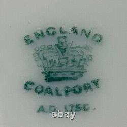 Coalport Cobalt Blue Gold Embossed Set of TWO (2) 9 Dinner Luncheon Plates