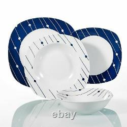 Complete 24PCs Dinner Set Crockery Dinnerware Plates Bowls Services for 6 People