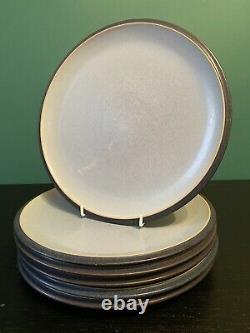Complete SET x6 GREAT Original Denby Stoneware BLUE JETTY large Dinner Plates