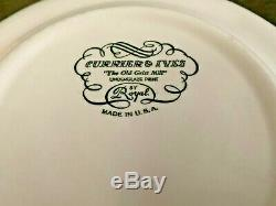 Currier and Ives Old Grist Mill Dinner Plates (Set of 12) Exc+ Cond. (10)
