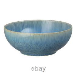 Denby Blue Speckle 12 pc Tableware Set Dinner Plates Cereal Bowls, Salad Plate