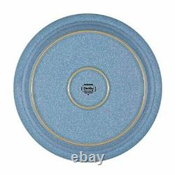 Denby Elements 4 Piece Dinner Plate Set, Blue