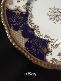Dinner Plate Coalport Batwing Panel Cobalt Blue (more available)