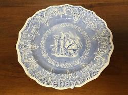 EKB Elkin, Knight & Bridgwood ETRUSCAN Transferware Dinner Plate c. 1830 (D)