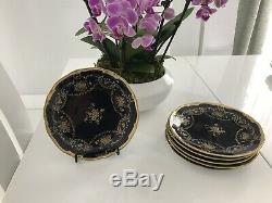 Echt Weimar Kobalt Porzellan Katharina (6) Dessert Plates- New