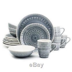 Fez 16 Piece Dinnerware Set in Grey by Euro Ceramica