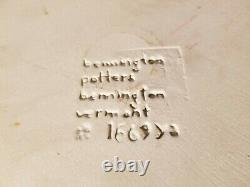 Four (4) Bennington Pottery Blue Agate Dinner Plates 1669 ya