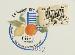 GIEN CHINA La Ronde Des Fruits Dinner Plate