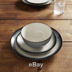 Glaze 12 Pc Dinner Set Salad Plates Side Plate Soup Bowls Cereal Dish Blue New