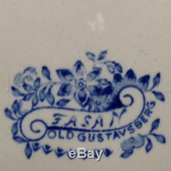 Gustavsberg Fasan Blue Dinner Plate 9 1/4 Floral & Bird Design