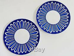 HERMES Porcelain Dinner Plate Bleus d'Ailleurs Blue Tableware Ornament 2 set New