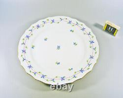 Herend, Blue Garland Rocaille 1524 Dinner Plate, Handpainted Porcelain! (j056)