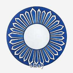 Hermes Bleus D'ailleurs Pair Of American Dinner Plates #p030001p Brand Nib F/sh