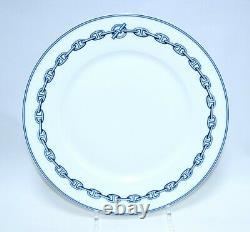 Hermes Chaine D'ancre Dinner Plate 10.6 Blue Dinnerware Tableware 27 cm ME6