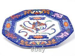 Hermes Porcelain Dinner Plate Pierres d'Orient et d'Occident Tableware Blue Dish