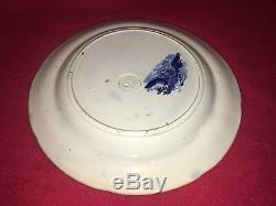 Historical Staffordshire Blue Arms Of New York Dinner Plate Ca. 1825