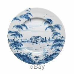 Juliska Country Estate Delft Blue Dinner Plate Main House Set of 4