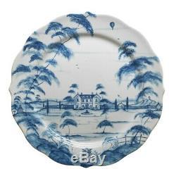 Juliska Country Estate Delft Blue Dinner Plate Main House Set of 4