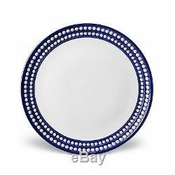 L'Objet Perlee Dinner Plate, Blue Set of 4