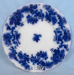 Lancaster Flow Blue Plate New Wharf Pottery England 1891 Porcelain Antique 9in
