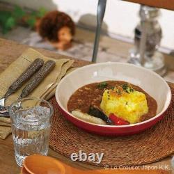 Le Creuset Round Dish Plate 20cm Rainbow 5 Color Set Japan Limited NEW