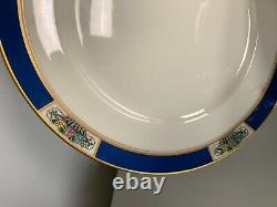 Lenox gold and blue rim with bouquet of flowers dinner plate set of 12