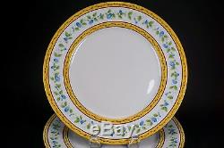 Limoges Ceralene Raynaud MORNING GLORY Ring Two Large 10 3/4 Dinner Plates A