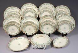 Limoges France Blue CHField Haviland GDA Dinner SET Plate Tureen Bread CHF189