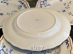 Longchamp Normandie Blue Floral Dinner Plates Set of 4