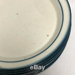 Lot Of 8 Dansk Blue Mist 10 Dinner Plates Free Shipping Denmark Excellent Cond