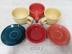 Lot of 24 pieces of Homer Laughlin Fiesta Dinnerware Made in USA
