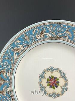 Lot of 4 Wedgwood China FLORENTINE TURQUOISE W2714 Dinner Plates