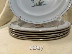 Lot of 6 Vntg SPODE Fine Stone Blue QUEEN'S BIRD Pattern#Y4973 10 Dinner Plate